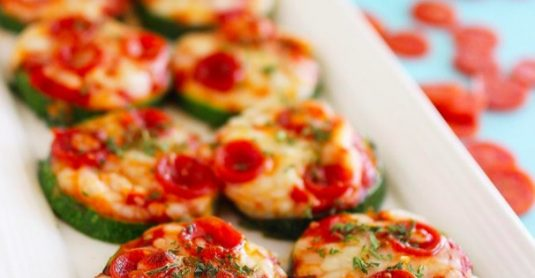 Courgette mini pizza's